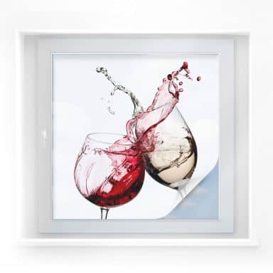 Window foil – Wineglasses – square