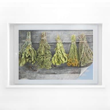 Window foil – Dried Herbs