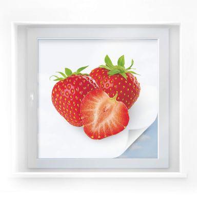Window foil Strawberries – square