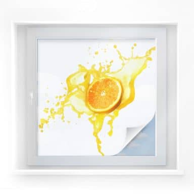 Window foil – Splashing Oranges – square