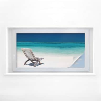 Window foil Beach – panorama