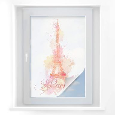 Sichtschutzfolie La Tour Eiffel Aquarell