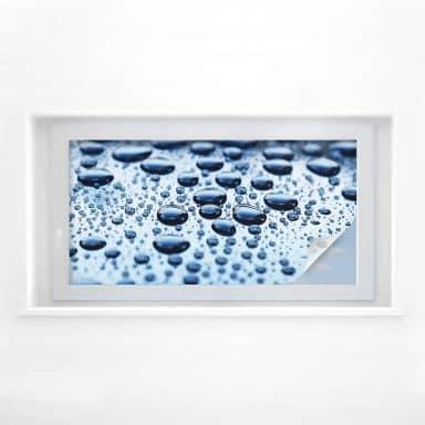 Sichtschutzfolie Waterdrops - Panorama