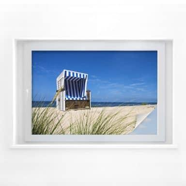 Sichtschutzfolie Strandkorb
