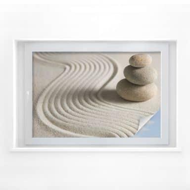 Window foil Stone in Sand 02