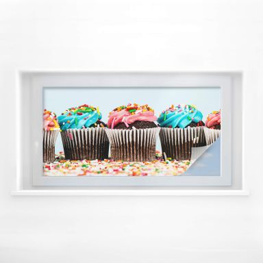 Sichtschutzfolie Party Cupcakes - Panorama