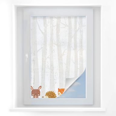 Window foil Forest animals