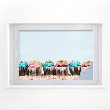 Sichtschutzfolie Party Cupcakes