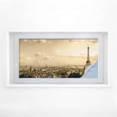 Raamfolie Paris Skyline – panorama