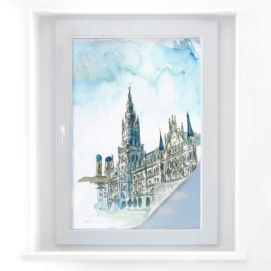 Sichtschutzfolie Bleichner - Münchener Skyline