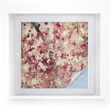Film occultant - Motif de fleur vintage - carré