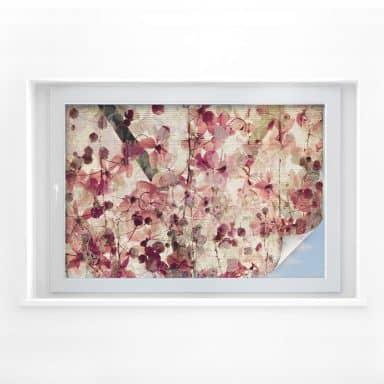 Sichtschutzfolie Vintage Blütenmuster