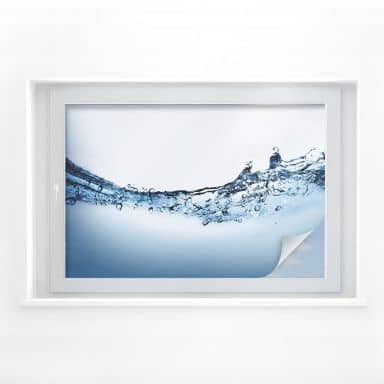 Pellicola adesiva per vetri - flusso d'acqua