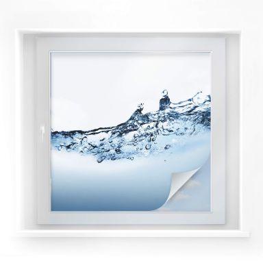 Pellicola adesiva per vetri - flusso d'acqua (quadrato)