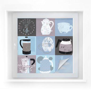 Window foil Loske – Coffee Time