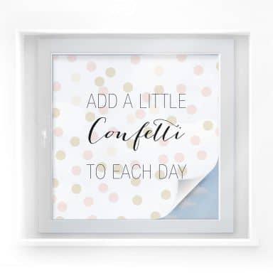 Sichtschutzfolie Confetti & Cream - Add a little confetti