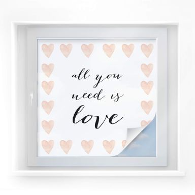 Sichtschutzfolie Confetti & Cream - All you need is love