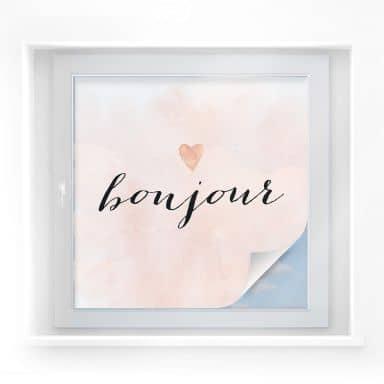 Sichtschutzfolie Confetti & Cream - Bonjour
