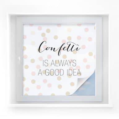 Sichtschutzfolie Confetti & Cream - Confetti is always a good idea