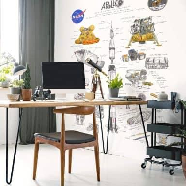 Photo Wallpaper Sparshott - Apollo 11 - 192x260 cm