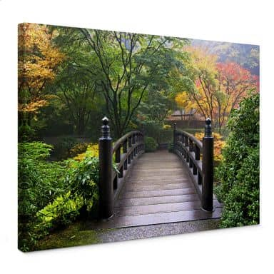 Bridge in the Green Canvas print
