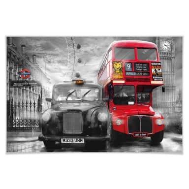 Giant Art® XXL-Poster Taxi & Bus - 175x115 cm