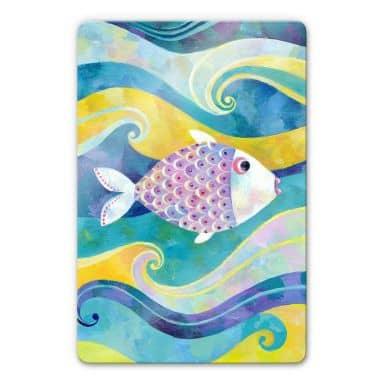 Glasbild Blanz - Der kleine Fisch