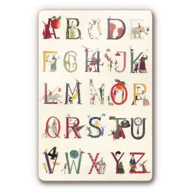 Glasbild Leffler - Das Alphabet