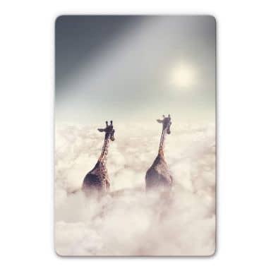 Glass Print Loose - Giant Giraffes
