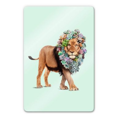 Glasbild Loose - Succulent Lion