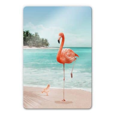 Glass Print Loose - Wannabe Flamingo