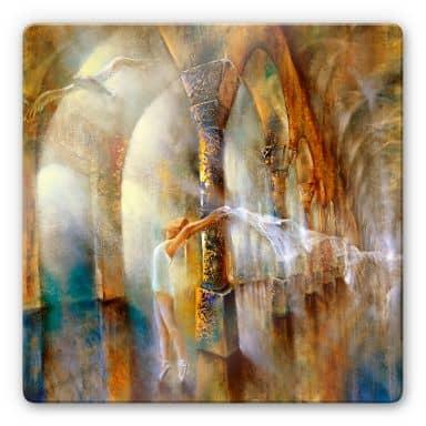 Glasbild - Schmucker - Die Tänzerin mit Möwe