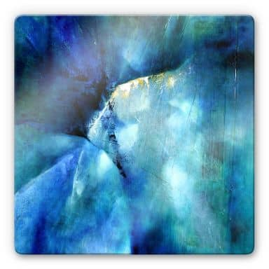 Glasbild Schmucker - Komposition in blau
