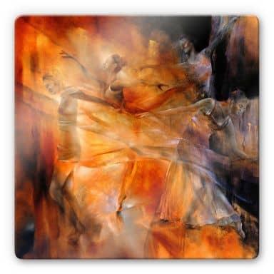 Glasbild - Schmucker - Vier Tänzerinnen