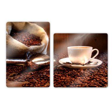 Coffee Pleasure Glass art (2 parts)