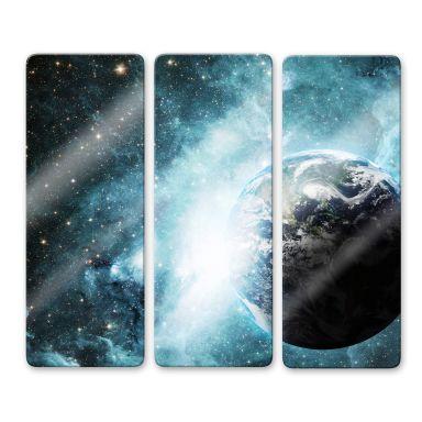 Glasbild In einer fernen Galaxie (3-teilig)