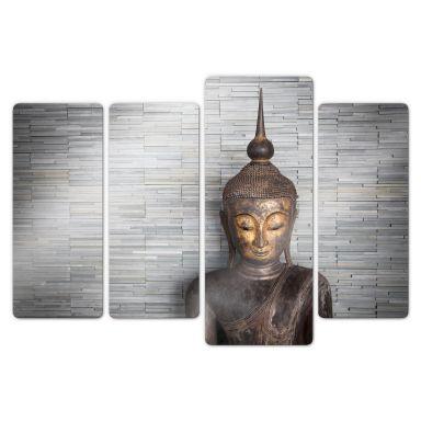 Stampa su vetro - Buddha tailandese (4 parti)