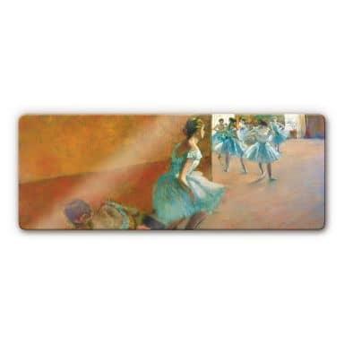 Glasbild Degas - Tänzerinnen auf einer Treppe