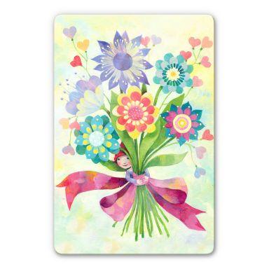 Glasbild Blanz - Blumenstrauß