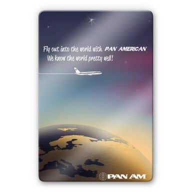 Glasbild  PAN AM - Worldwide