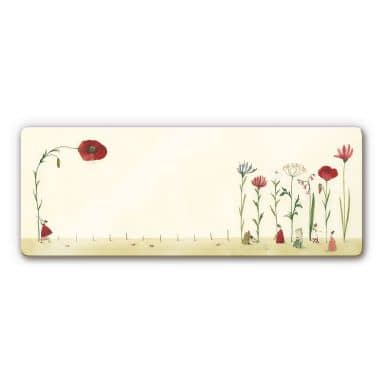 Glass print  Leffler – Lonely Flower