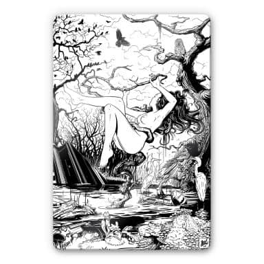 Glass Print Drawstore - In the Swamp