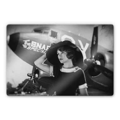 Glasbild  Allicot - The 50s Girl