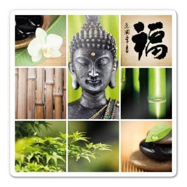 Glasbild Asian Spa