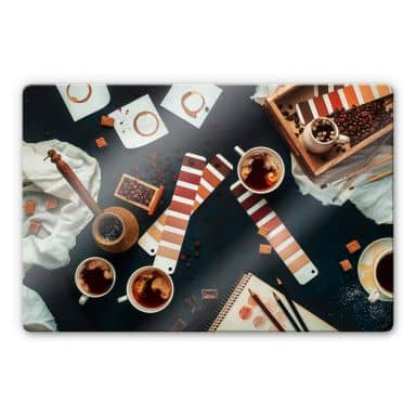 Glasbild  Belenko - Shades of Coffee