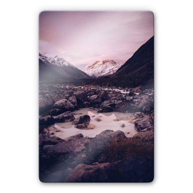 Glasbild Berggipfel 02