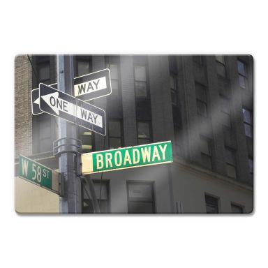 Glasbild Broadway