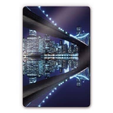 Glasbild Brooklyn Bridge 1