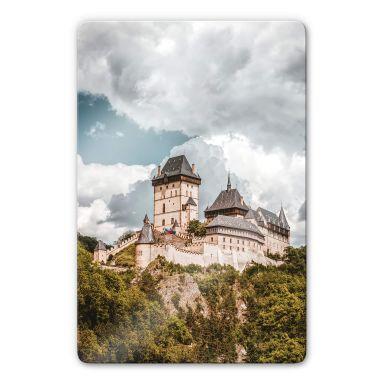 Glasbild Burg Karlstein