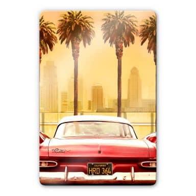 Glasbild Butterworth - Oldtimer in Los Angeles